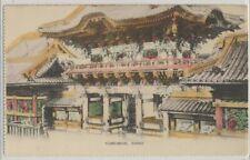 Japan Yomeimon Nikko on c. 1905 Vintage Real Photo Hand Tinted Card