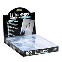 Box 100 Ultra PRO Platinum 9-Pocket Hologram Card Album Pages/Binder Sheets BCW