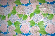 Lille Hydrangea Flower Oilcloth Material Fabric Kitchen Picnic Table Cottage