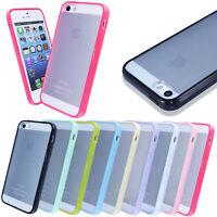 TPU f iPhone 5 5S Case Hülle Cover Silikon Schale Bumper Rahmen matt transparent