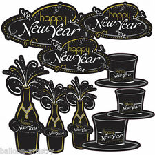 30 Piece Happy New Year Cheers Celebration Party Value Cutouts Decorations Pack