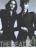 PUBLICITE ADVERTISING   2011  BURBERRY parfum THE BEAT pour homme et femme