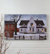 Battery Operated Lighted 1890 Farmstead Canvas Print by Billy Jacobs