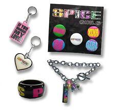 Spice Girls 2007 2008 5 Item Gift Set New Rare Keychains Bracelet Pins Rings
