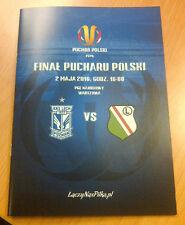 2.05.2016 Programme for collectors Final Polish Cup Lech Poznan Legia Warszawa