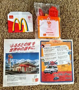 McDonalds 1998 NAGANO Japan Olympics Happy Meal Toy, Placemat, French Fry Holder