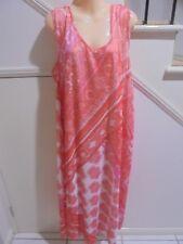 CLARITY NWT SIZE XXL 20 ORANGE GUAVA DRESS & SLIP RRP $99.95