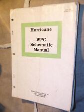 FLIPPER Hurricane ORIGINALE schemi manuale Williams