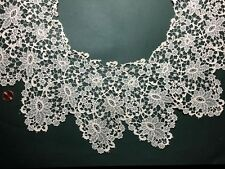 Large floral Schiffli embroidered net lace collar. Bride Costume