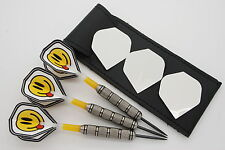 40g tungsten darts set, heavy knurled grip, standard flights,shafts,case