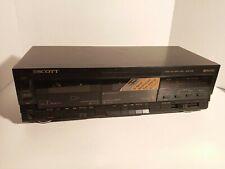 Scott Model Dd660B Dual Cassette Tape Deck Chrome Tape Dolby Nr Player CrO2