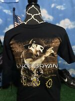 LUKE BRYAN 2017 Hunting Fishing Loving Every Day Tour Concert T-Shirt shirt c8