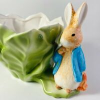 Beatrix Potter Peter Rabbit Planter FW & Co.1998 Teleflora Vintage Bunny Lettuce