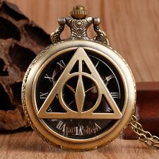 Harry Potter The Deathly Hallows Retro Triangle Pocket Watch Retro Men Xmas Gift