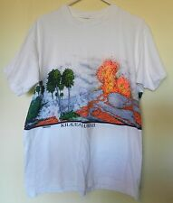 vtg Hawaii T Shirt 80s 90s Volcano Kilauea XL art Islands tourist palm trees tee