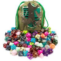 Wiz Dice Bag of Tricks: 140 Polyhedral Dice, 20 Complete Sets for Tabletop Games