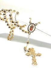 Rosario de Oro Laminado de 26 Pulgadas Cn Crucifijo y Imagen Virgen de Guadalupe