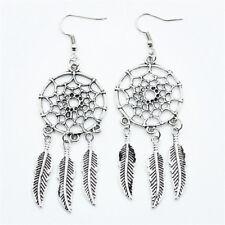 Dream Catcher Bohemian Drop Dangle Earrings Feather Jewelry Women Retro Charm
