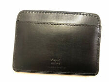 Paper Thinks Black Recycled Leather Card Holder ID Wallet