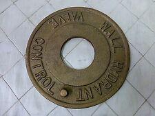 "Metal Wall Fire Hydrant Valve Plate Cast Metal Brass Bronze 7"""