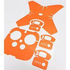 Sticker Decal Wrap Skin For DJI Phantom 4+Battery+REMOTE orange Carbon Fiber
