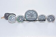 Gauge Set for Willys MB Jeep Ford CJ GPW Black 60 Speedometer Temp Oil Fuel Amp
