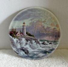Thomas Kinkade Lighthouse Plate Conquering the Storms Plate