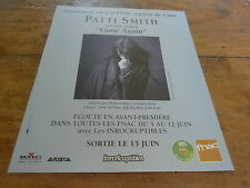 PATTI SMITH - GONE AGAIN!!!!!!!!!!!! PUBLICITE / ADVERT