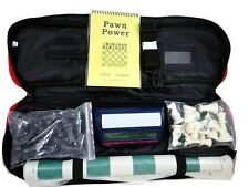 Chess Tournament Combo Set - Red Bag/Green Board/Clock/Black & Whte Pieces