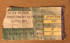 1987 Beastie Boys Public Enemy Philadelphia Concert Ticket Stub Licensed To Ill