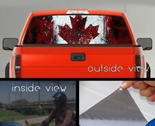 Flag of Canada Rear Window Graphic Perforated Mesh Vinyl Decal Sticker