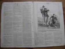 6 janvier 1865 LE CHARIVARI lithographie DARJOY racisme guerre chez les Arabes