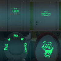 Removable Wall Sticker Glow In The Dark Wall Paper Bathroom / Toilet Sticker