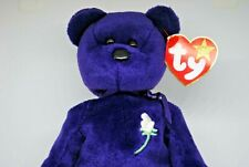TY Beanie Babies Collectable PRINCESS DIANA BEAR with Tag & Plastic 220mm Tall