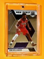 Zion Williamson PANINI MOSAIC NBA DEBUT HOT ROOKIE CARD 2019-20 RC #269 - Mint!