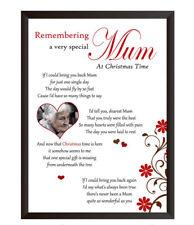 Personalised PHOTO In Loving Memory of Mum Nan Gran A4 Print Christmas