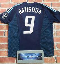 Batistuta Argentina Camisa Adulto 2002 Copa del Mundo de fútbol Nike XL Vintage Retro