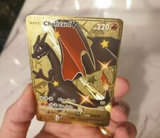 GOLD Shiny Charizard V Pokemon Card 073/074 METAL CUSTOM Vmax Champions Path
