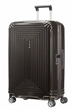 Samsonite Neopulse Suitcase 4 Wheel Spinner 69cm Medium Black Boxed New