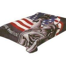 Original Solaron Korean Blanket Thick Mink Plush King size American Flag new