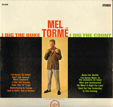 "MEL TORME ""I DIG THE DUKE I DIG THE COUNT"" VOCAL JAZZ 60'S LP VERVE V6 8491"