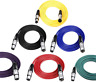 XLR Cable // Microphone Lead // Male to Female XLR // Black, Blue, Red!!!