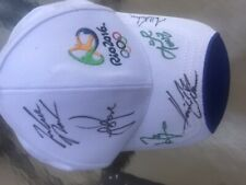 2016 Rio Olympic golf hat signed by men's and women's medal winners