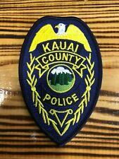 PATCH POLICE KAUAI COUNTY HAWAII  HI