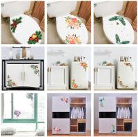 DIY Flower Window Wall Sticker Toilet Refrigerator Cabinet Decal Home Decor Gift