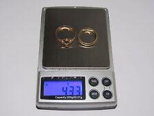 07D11 LOT DE DEUX BAGUES ALLIANCE POUR CASSE FONTE 4,33 gammes OR ROSE 18 CARATS