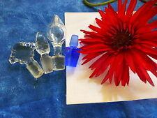lot 4bouchons pleins  anciens xix  petites carafe ,un de bleu