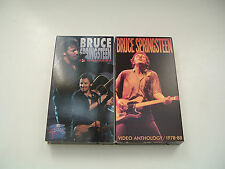 Vintage Bruce Springsteen video anthology 1978-88 and Mtv in concert vhs tapes