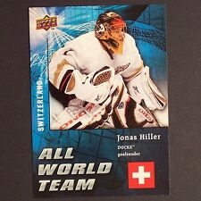 JONAS HILLER 2009/10 Upper Deck All World Team #AW21 Anaheim Ducks single