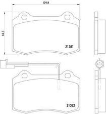 MDB1633 Mintex Set Pastiglie dei Freni Freno a disco anteriore